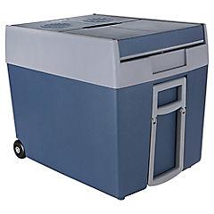 Nevera eléctrica con manillas 2 ruedas 48 litros azul