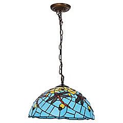 Lámpara Colgante Tiffany Celeste E27 60W
