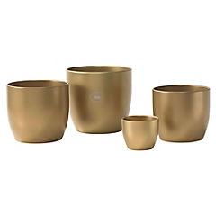 Macetero de cerámica 16 cm Dorado