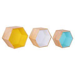 Set 3 repisas hexagonales Windsor