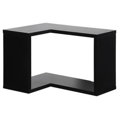 Repisa esquinera mdf 26x30x40 cm negro Repisas para banos sodimac