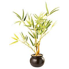 Bambú artificial 30 cm con macetero