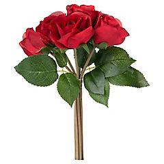 Rosa artificial 26 cm rojo