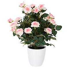 Rosa artificial 40 cm con macetero