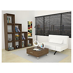 Mesa centro + biblio escritorio amaretto