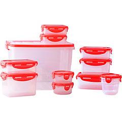 Set de contenedores de alimentos plástico 11 unidades