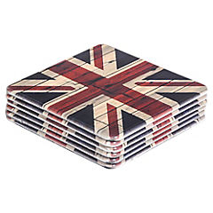 Set 6 Posavasos Inglaterra 10 x 10 cm