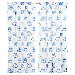 Cortina para Cocina Tazas Azules 70 x 115 cm