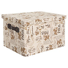 Caja con Tapa  París 37 x 27 x 20 cm Café