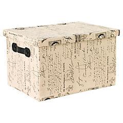 Caja con Tapa  París 37 x 27 x 20 cm Negro