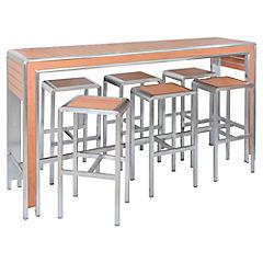 Bar 7 piezas Aluminio