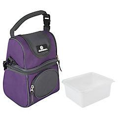 Nevera soft púrpura con recipiente plástico
