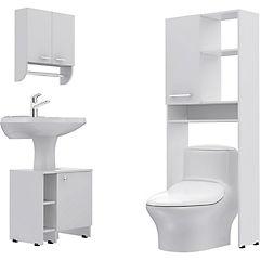 Combo Botiquín 28 + mueble bajo lavamanos 47 + Estante 26
