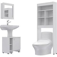 Combo Botiquín 47 + mueble bajo lavamanos 47 + Estante 20
