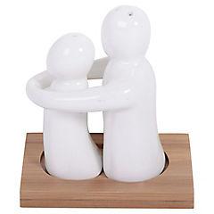Set Sal y Pimienta Porcelana Abrazo