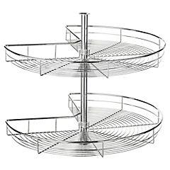 Canastillo rotonda 74x41,5 cm acero 270 gr Cromado