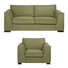 Juego de living Génova 3 cuerpos + sillón