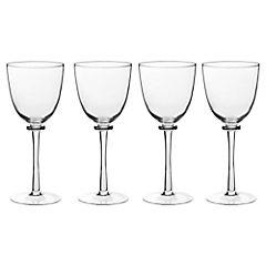 Set de copas bigball vidrio 360 ml 4 unidades transparente
