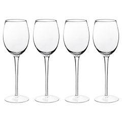 Set de copas para vino vidrio 400 ml 4 unidades transparente