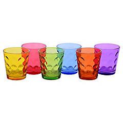 Juego 6 vasos pop color 340 cc