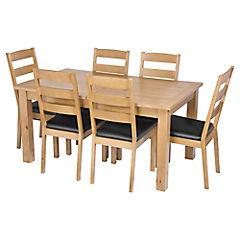 Juego de comedor Provence extensible 150/190 6 sillas