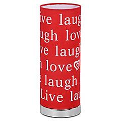 Lampara de Mesa Live Love Rosado E14