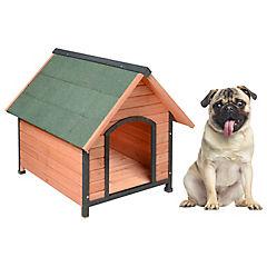 Casa perro de madera 83x90x89 cm