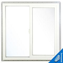 Ventana 120x120 blanco fibrex termopanel
