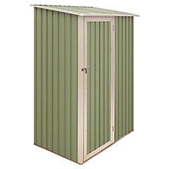 Caseta de jardín 143x89x186 cm de metal Verde