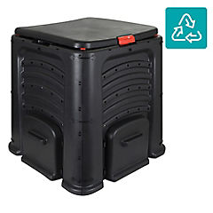 Compostera 85x85x80 cm de plástico negro