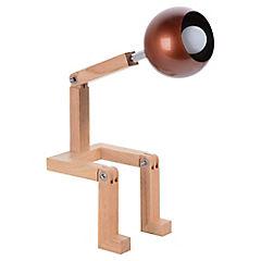 Lámpara de Mesa figura madera e14 40w