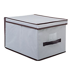 Caja organizadora con tapa 30x30x16 gris