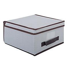 Caja organizadora con tapa 30x40x25 cm gris
