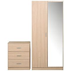 Kit closet con espejo + comoda