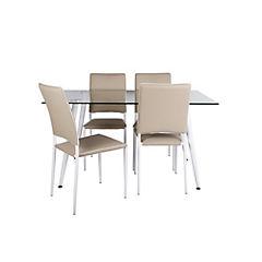 Juego de comedor 4 sillas blanco
