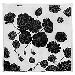 Servilletas rosas negras 20 unidades