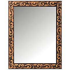 Espejo 30x40 cm dorado