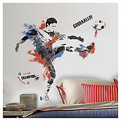 Sticker decorativo futbolista 13x48 cm