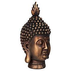 Buda cabeza dorado 40cm
