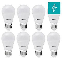 Set de Ampolletas LED E-27 25 W Fría 8 unidades
