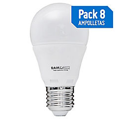 Pack de 8 Ampolleta Led de 4W Luz Calida