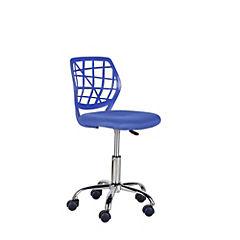Silla escritorio sin brazos azul