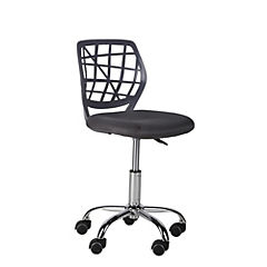 Silla de escritorio sin brazos gris