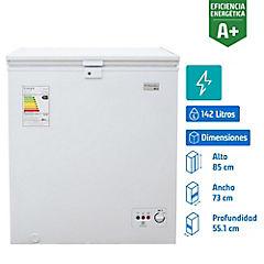 Freezer horizontal frío directo 142 litros blanco