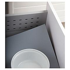 Piso antideslizante 47,5x210x210 cm plástico gris