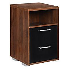 Velador madera 2 cajones 37x39x64