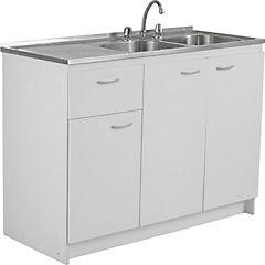 Kit mueble para lavaplatos 120x87x49 cm Blanco