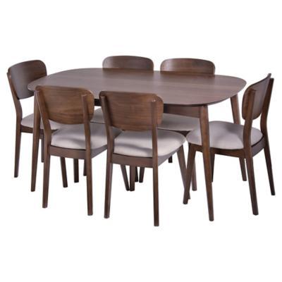 juego de comedor extensible 150 190 cm oslo 6 sillas