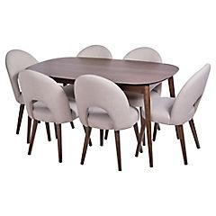 Juego de comedor extensible Oslo 6 sillas