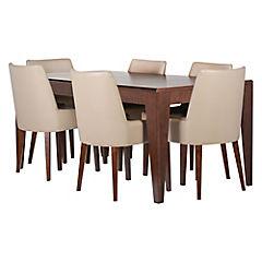 Juego de comedor City extensible 6 sillas bajas